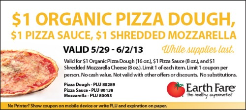 Earth Fare Pizza Coupon